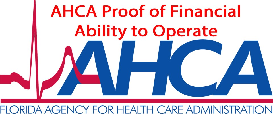 AHCA Proof of Financial Ability to Operate Form 3100-0009